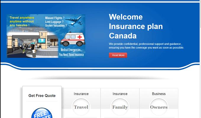 Insurance website Canada