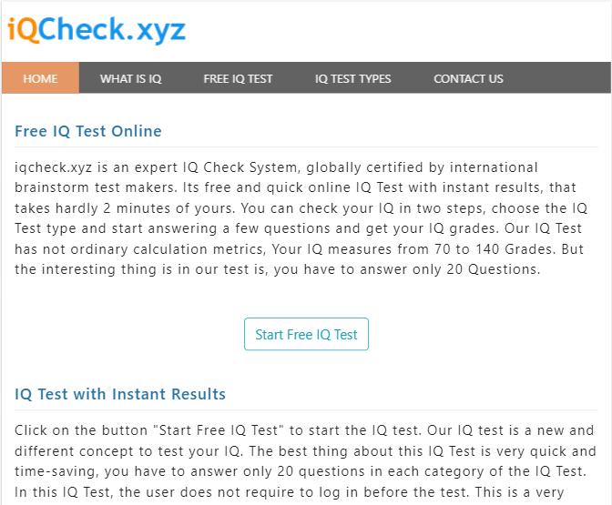 IQ Check Website